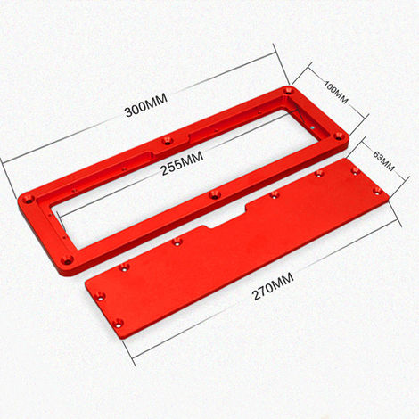 Table Saw Electric Circular Saw Flip Cover Plate Aluminum Alloy Flip-floor Table Special Embedded Cover Plate