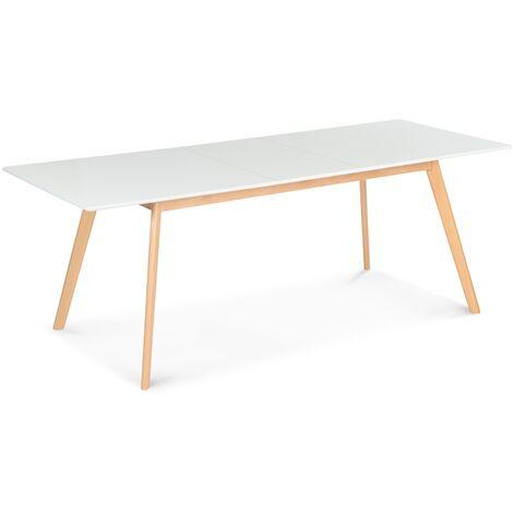 Table scandinave extensible INGA 160-200 CM blanche