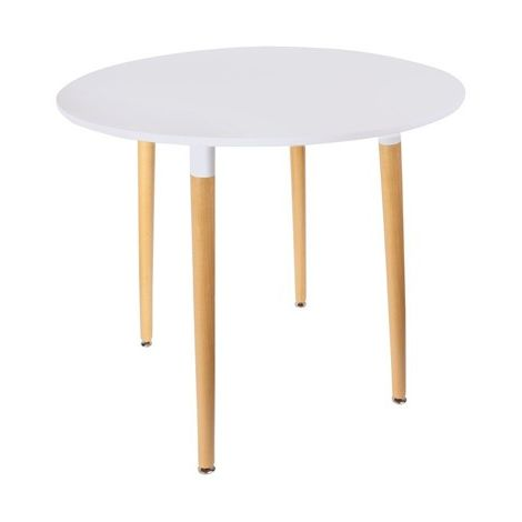 Table Scandinave Ronde Blanche Home Deco Factory