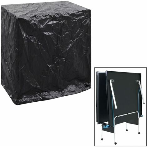 Table Tennis 8 Eyelets Patio Table Cover by WFX Utility - Black