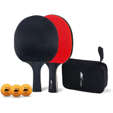 Table Tennis Set, Ping Pong Paddle Set, Outstanding Attack and Defense Control, Consists of 2 Rackets, 3 Table Tennis and 1 Storage Bag