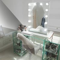 Table Top Hollywood Makeup Mirror with Daylight Dimmable LED k90sCW