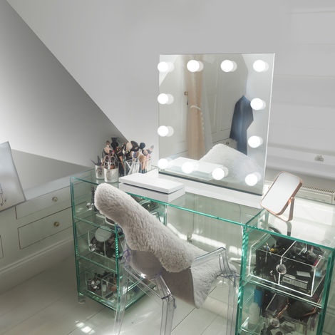 Table Top Hollywood Makeup Mirror with Warm White Dimmable LED k411sWW