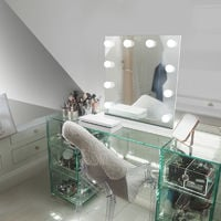 Table Top Hollywood Makeup Mirror with Warm White Dimmable LED k89sWW