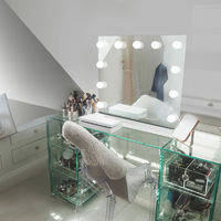 Table Top Hollywood Makeup Mirror with Warm White Dimmable LED k95sWW