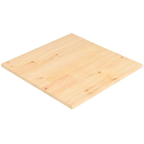 Table Top Natural Pinewood Square 70x70x2,5 cm
