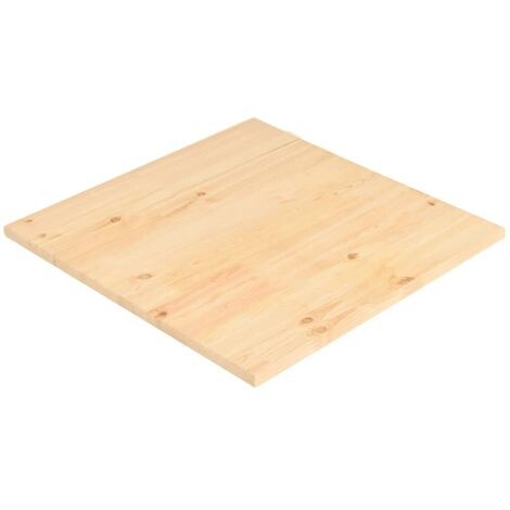 Table Top Natural Pinewood Square 80x80x2,5 cm
