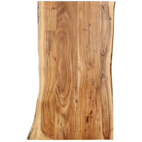 Table Top Solid Acacia Wood 100x60x2.5 cm - Brown