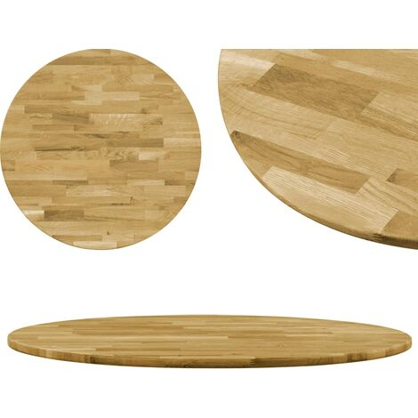 Table Top Solid Oak Wood Round 23 mm 600 mm