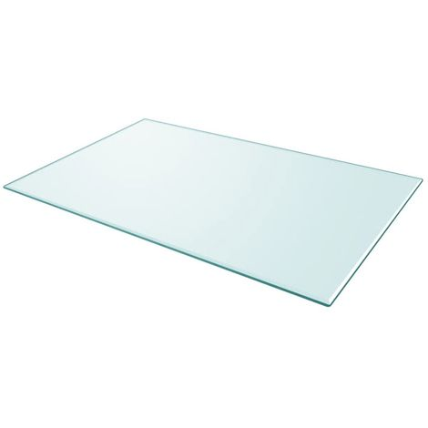 Table Top Tempered Glass Rectangular 1000x620 mm