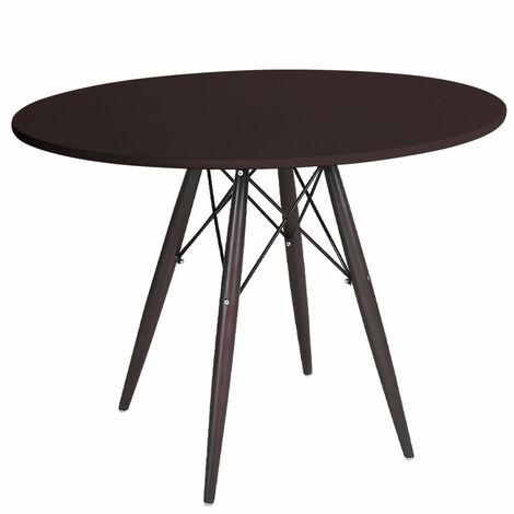 TABLE TOWER WOOD CHOCOLATE Ø10 X X 73 CM DE HAUTEUR.