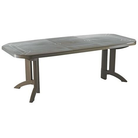 TABLE VEGA 100X220CM TAUPE