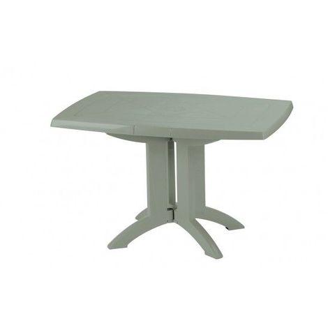TABLE VEGA 118x77x72 cm coloris vert tender - rouge bossa nova
