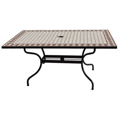 Table zellige l.160 x l 90 x h 74 cm