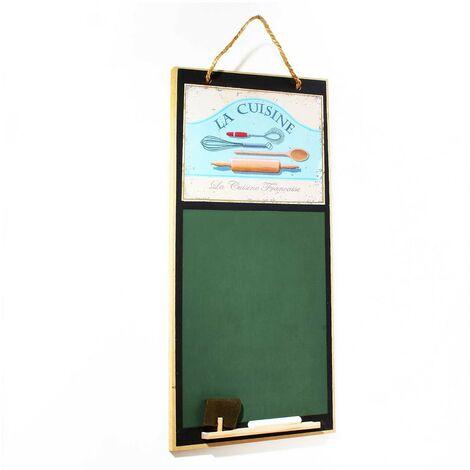 Tableau à craie modèle la cuisine vert MDF 26.5 x 58 x 1 cm - CaliCosy