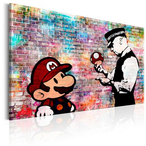 Tableau - Banksy: Colourful Brick 120x80