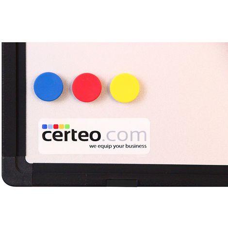 Tableau blanc BALU de Certeo - l x h 1200 x 900 mm - cadre en aluminium anodisé noir