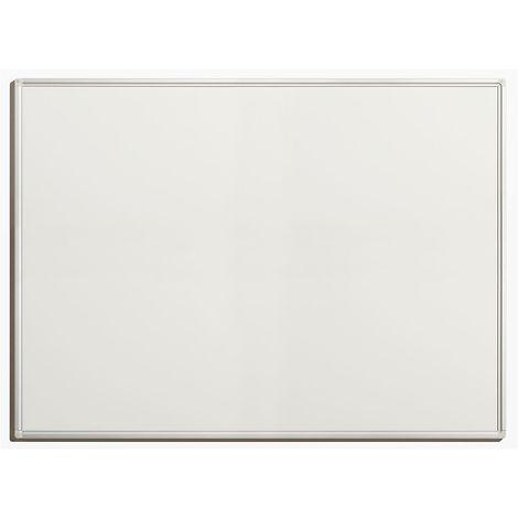Tableau blanc économique - en tôle d'acier laquée, magnétique, pour inscriptions effaçables - l x h extérieures 1200 x - Coloris du tableau: blanc