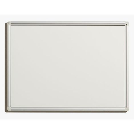 Tableau blanc économique - en tôle d'acier laquée, magnétique, pour inscriptions effaçables - l x h extérieures 600 x