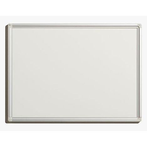 Tableau blanc économique - en tôle d'acier laquée, magnétique, pour inscriptions effaçables - l x h extérieures 600 x - Coloris du tableau: blanc