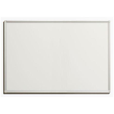 Tableau blanc économique - en tôle d'acier laquée, magnétique, pour inscriptions effaçables - l x h extérieures 900 x