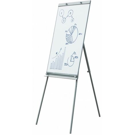 Tableau Blanc Magnétique avec Trépied Paperboard 60 x 90 cm Réglable Effaçable