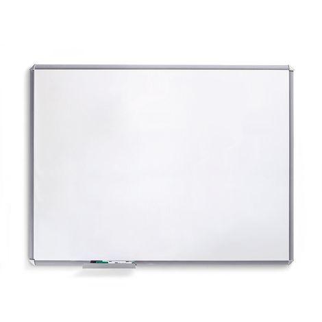 Tableau blanc SILVERLINE - cadre gris argent - l x h 400 x 300 mm