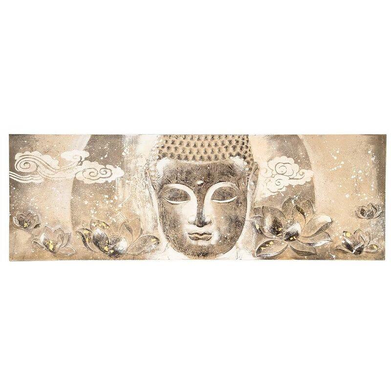 Tableau Bouddha Yazu - marron Marron - Atmosphera