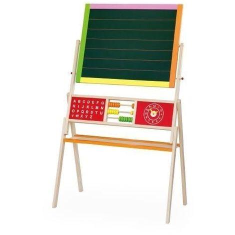 Tableau bureau double en bois avec équipement enfant 3+ Standing Easel   Multicolore