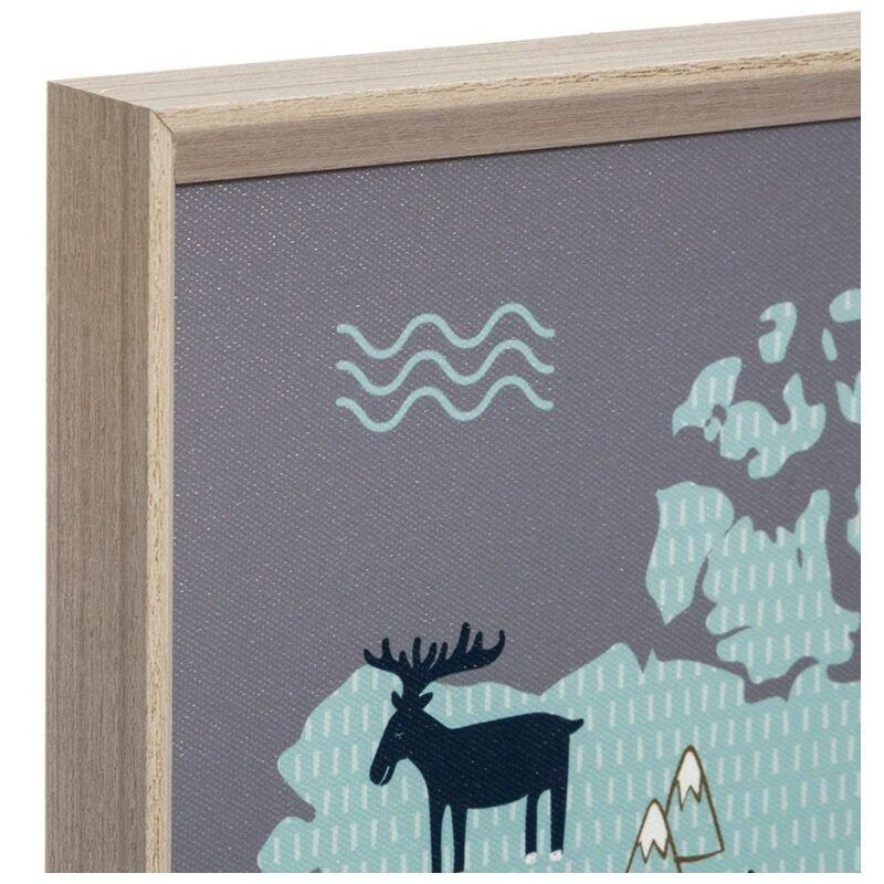 Tableau Carte Du Monde Enfant Gris 4car Monde 158834