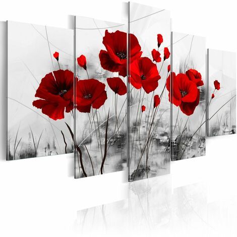Tableau - coquelicots - rouge miracle 100x50