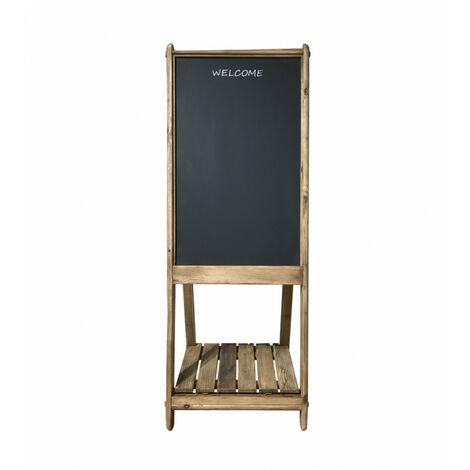 Tableau d'ardoise repliable 165 cm base de rangement bois - CHALET - naturelle