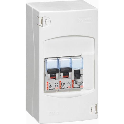 Tableau de commande automatique de chauffe-eau - 2 disjoncteurs + 1 contacteur