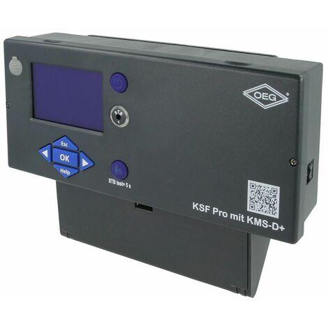 Tableau de commande avec régulation KMS-D+ avec sonde et fiche brûleur