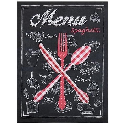 Tableau Déco Toile Imprimée Et Objets Déco Spaghetti - Métal - 30x40cm