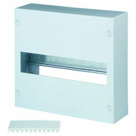 Tableau électrique 13 modules saillie1 rangée montage saillie ou sur GTL