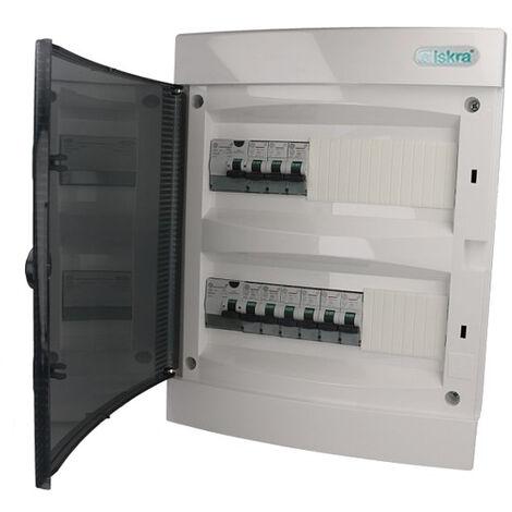 Tableau électrique encastrable (9 disjoncteurs + 2 ID)