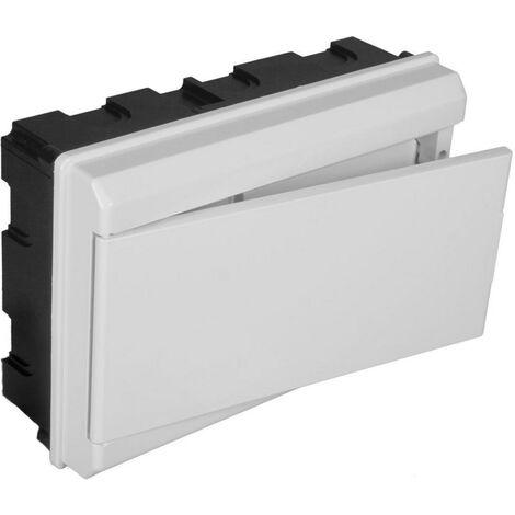 Tableau électrique encastrable ICP + 8 éléments avec porte blanche SOLERA 679CB