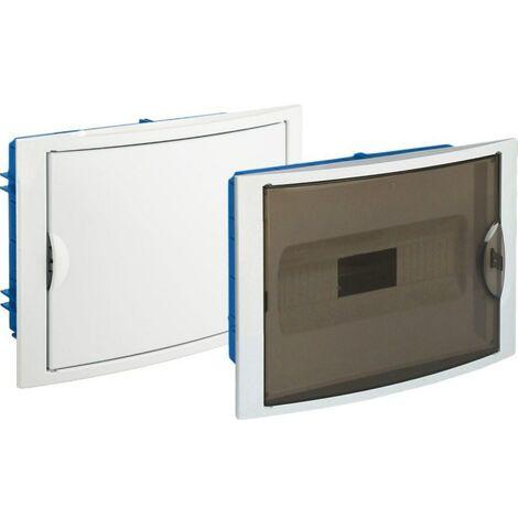 Tableau électrique encastrable Pladur 14 éléments scellables cadre blanc et porte anti-fumée SOLERA 5012P