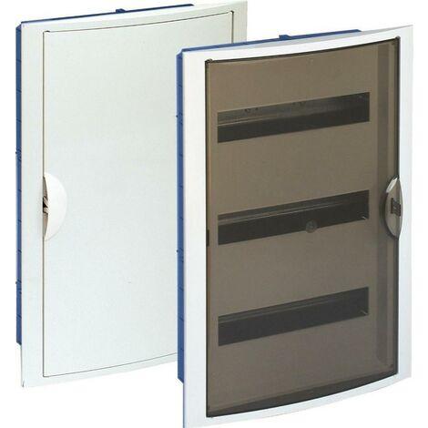 Tableau électrique encastrable Pladur 42 éléments cadre blanc et porte anti-fumée SOLERA 5260PFHG