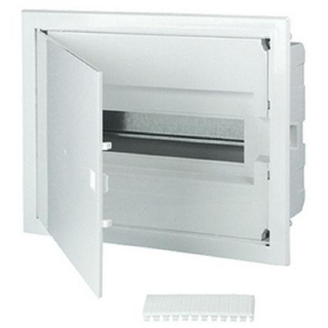 Tableau électrique encastré 12 modules 1 rangée avec porte pleine couleur blanc