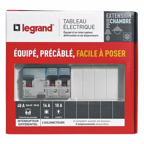 Tableau électrique équipé spécial pour extension chambre (093060)