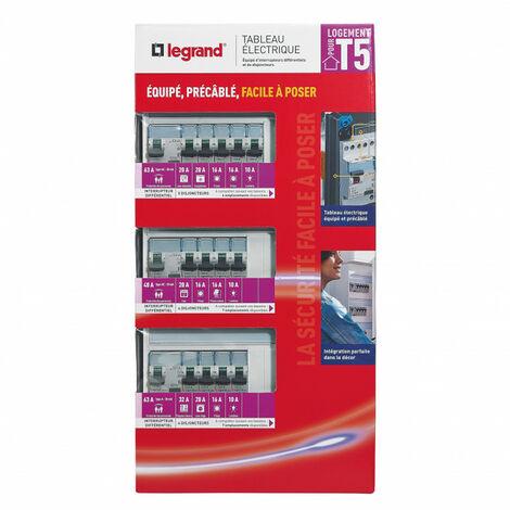Tableau électrique équipé spécial pour logement T5 (093058)