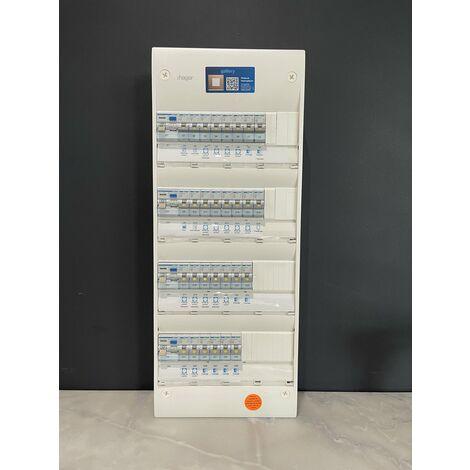Tableau électrique Hager 4 rangées équipé et pré-câblé ( modèle n°2 )