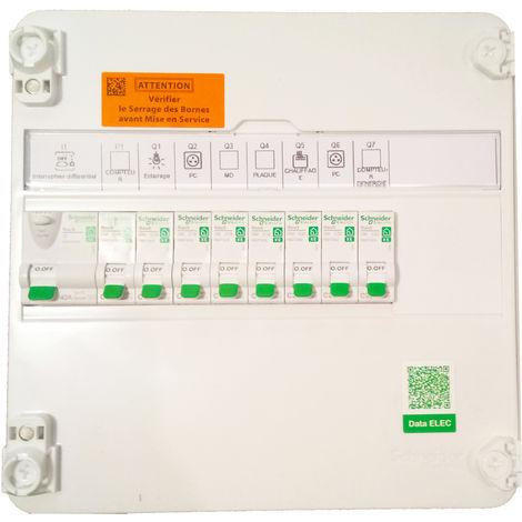 Tableau électrique Pré-Câblé 1 rangée - Rénovation / Schneider