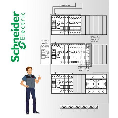 """main image of """"Tableau electrique Pré Cablé Schneider Electric surface entre 35 m2 et 100 m2 (T1bis et jusqu'à T5)"""""""