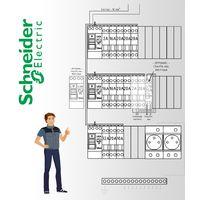 Tableau electrique Pré Cablé Schneider Electric surface entre 35 m2 et 100 m2 (T1bis et jusqu'à T5)