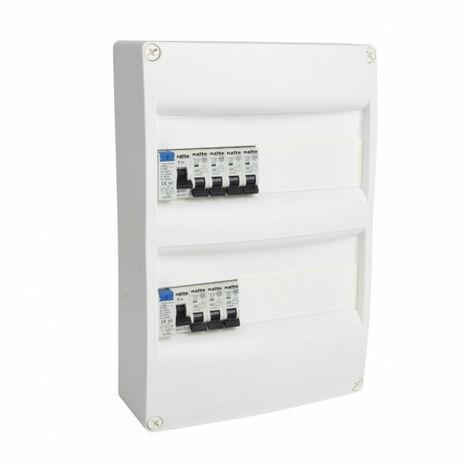 Tableau électrique pré équipé 2 rangées 26 modules 2ID + 7 disjoncteurs NALTO