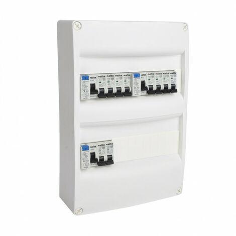 Tableau électrique pré-équipé 2 rangées 26 modules 3 ID + 10 Disjoncteurs NALTO