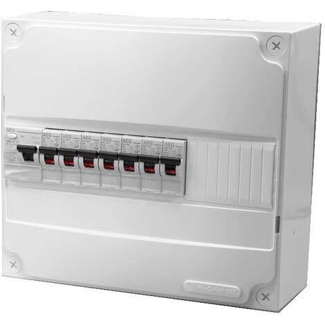 Tableau électrique precable AEG (7 disjoncteurs + 1 ID)